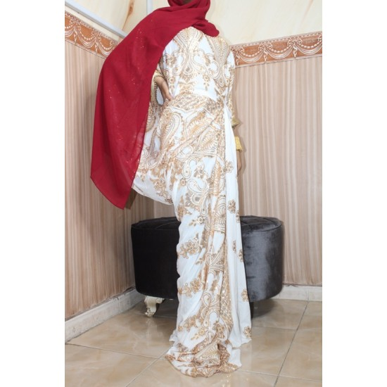 SAREE DRESS (WHITE)