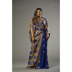 SAREE DRESS (ROYALBLUE)