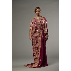 Saree Dress (Maroon)
