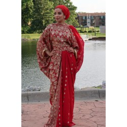DIRAC SAREE (RED)