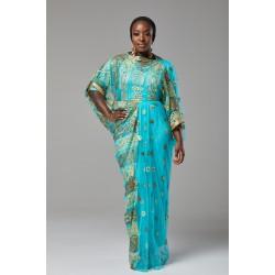 DIRAC DRESS (AQUA)